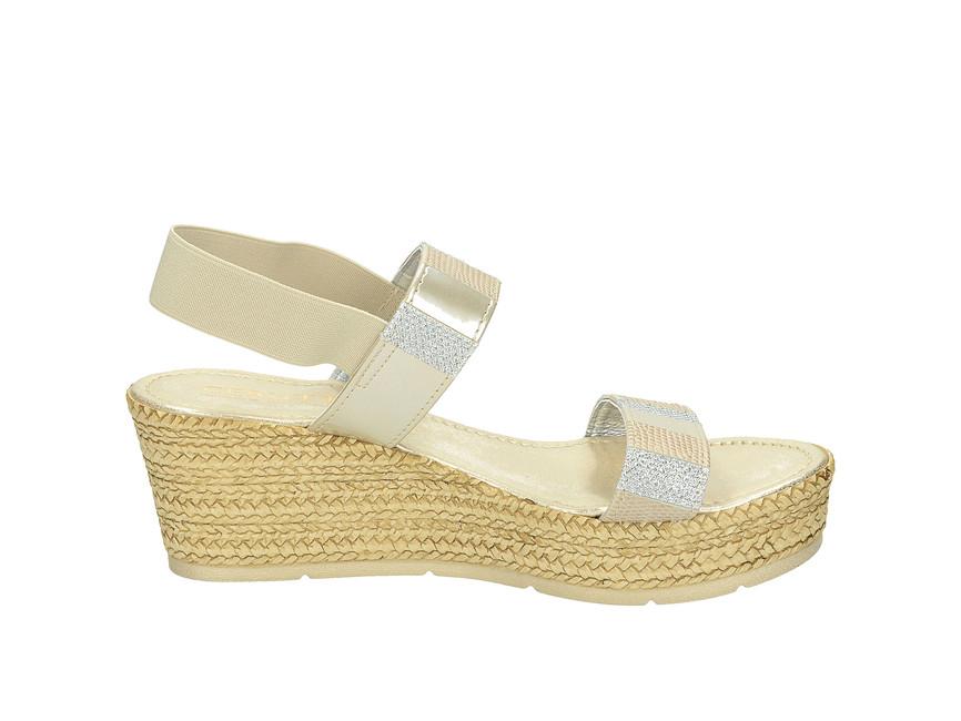 b830815a7f ... Cerutti dámske sandále na klinovom podpätku - béžové ...