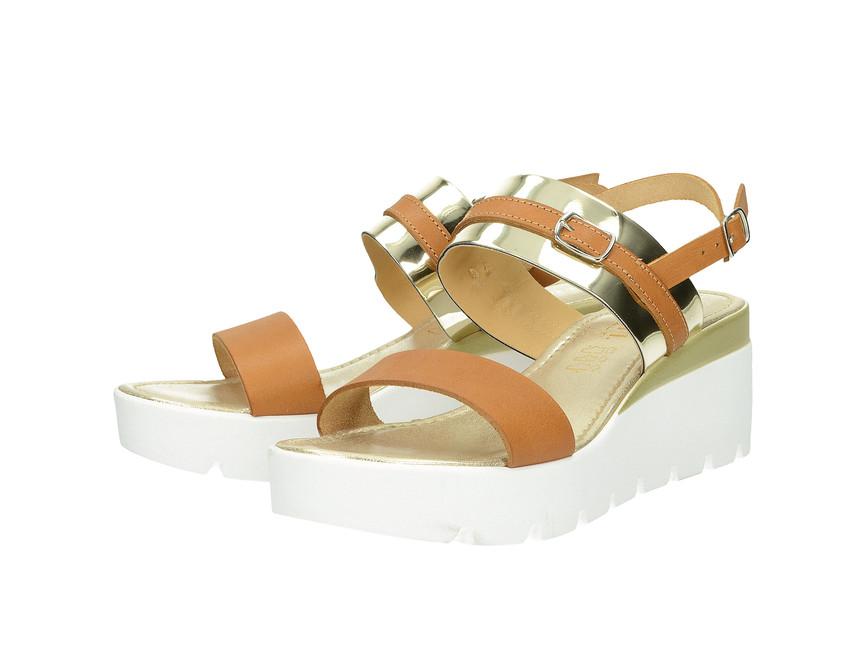 Cerutti dámske sandále - hnedozlaté