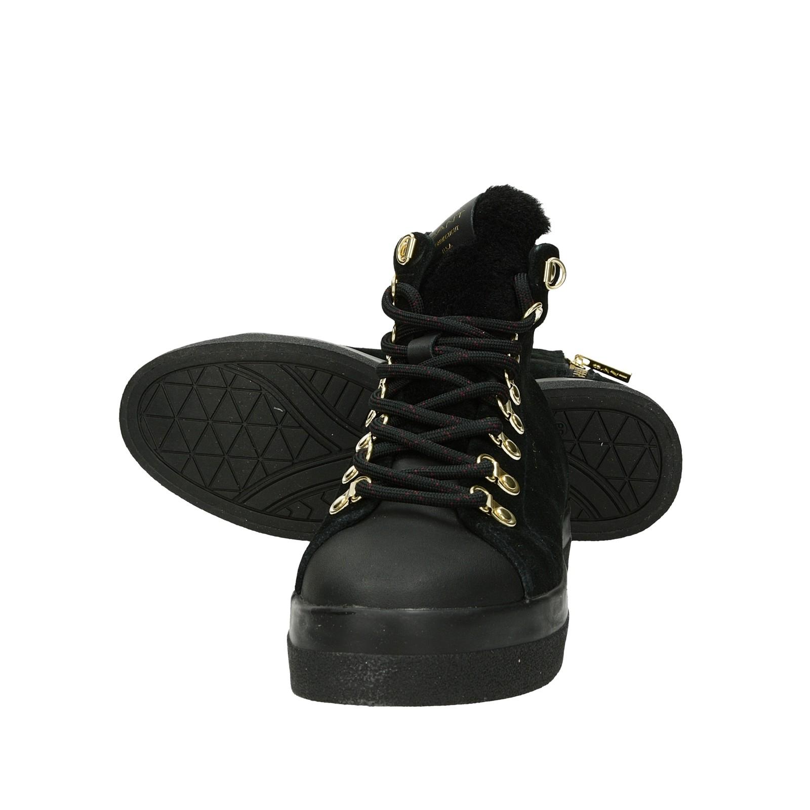 Gant dámske štýlové semišové zateplené kotníky - čierne