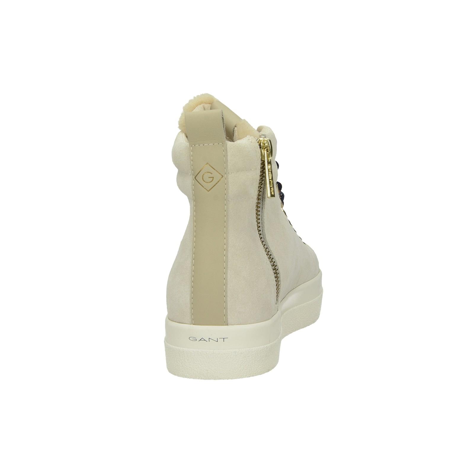 Gant dámske štýlové semišové kotníky - béžové