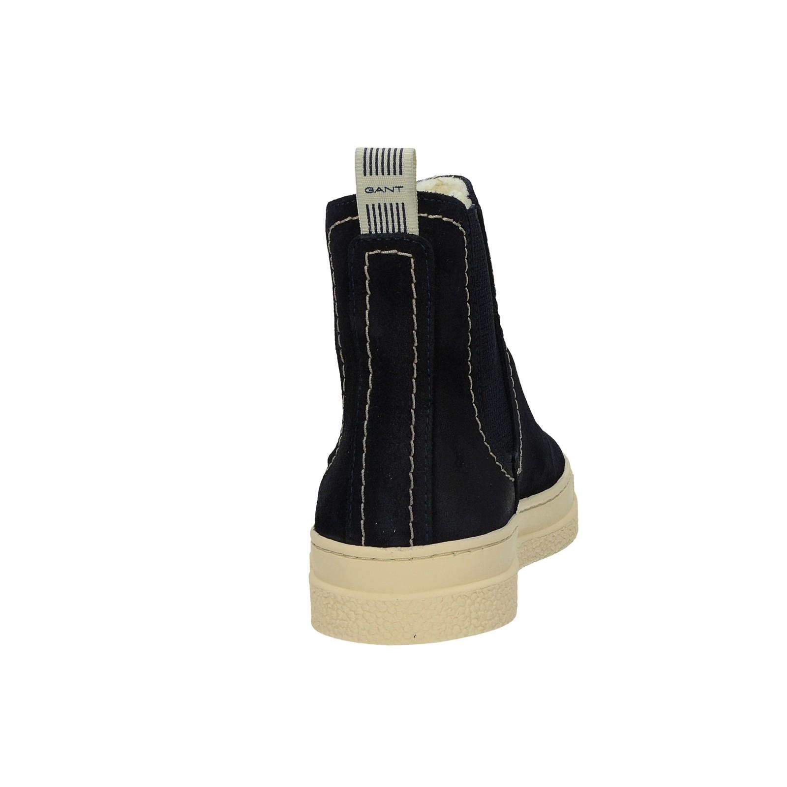Gant dámske štýlové semišové kotníky - tmavomodré