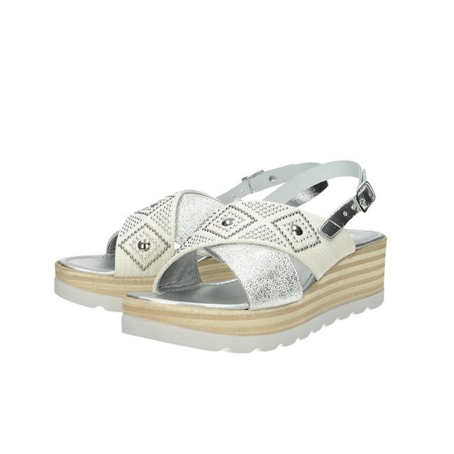 0f1ccf7956b5 ... Cerutti dámske elegantné sandále s ozdobnými kamienkami - strieborné ...