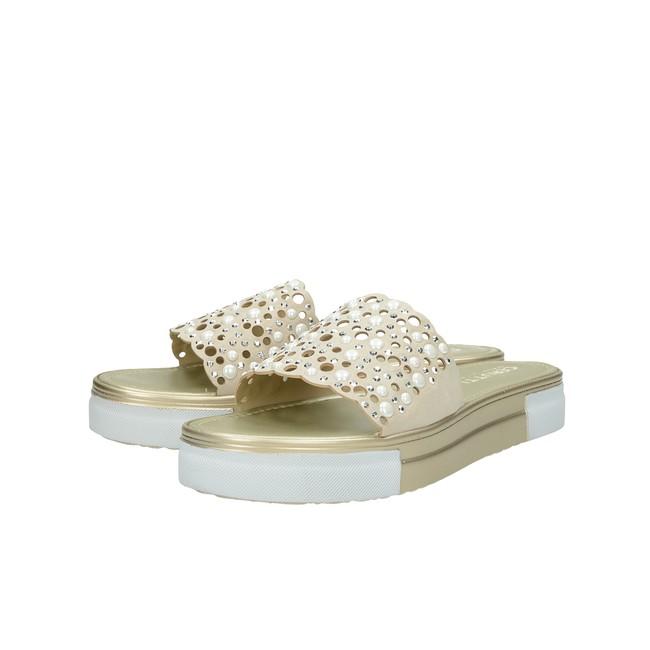 3e514eaa0df8 ... Cerutti dámske elegantné šľapky s ozdobnými kamienkami - béžové ...