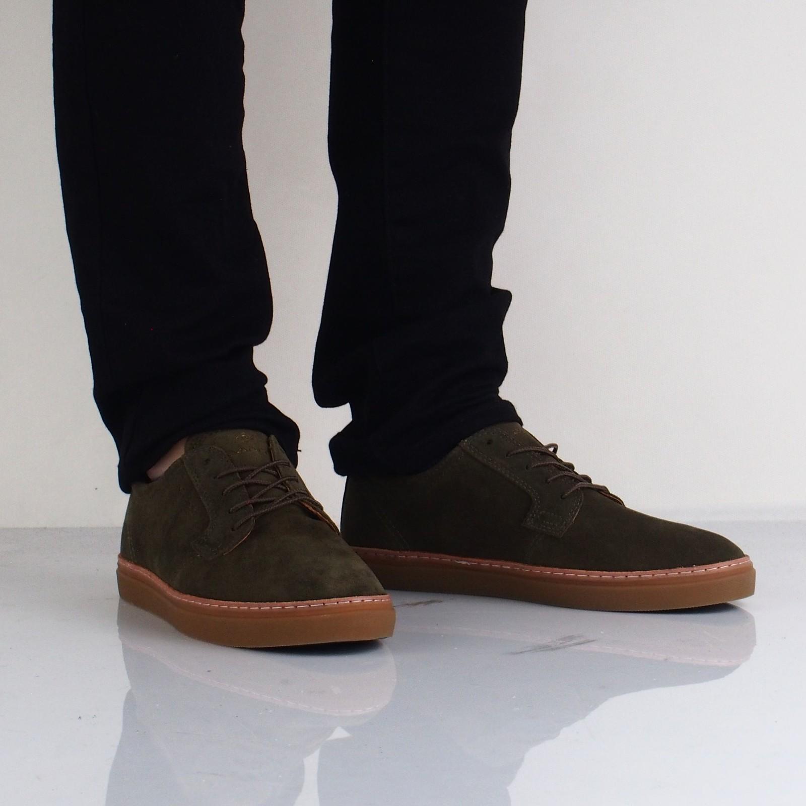 Gant pánske semišové štýlové tenisky - olivové