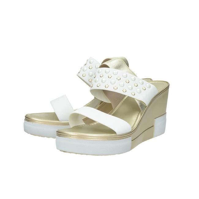 ed18b8b23508 ... Cerutti dámske elegantné sandále s ozdobnými kamienkami - biele ...