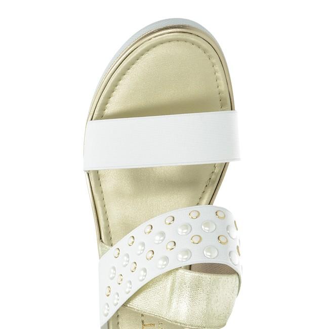 92b6b32f1c8b Cerutti dámske elegantné sandále s ozdobnými kamienkami - biele ...