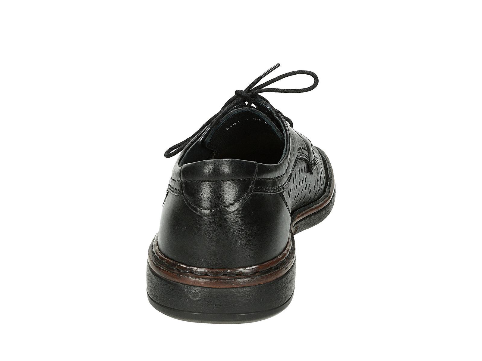 Robel pánske perforované poltopánky - čierne