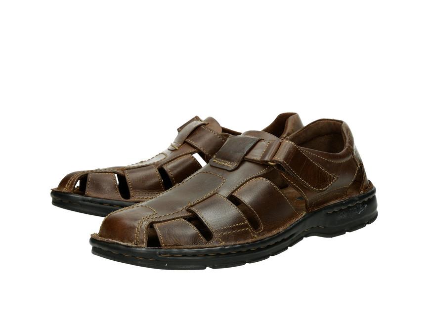 abee629a7137 Robel pánske kožené sandále - hnedé ...