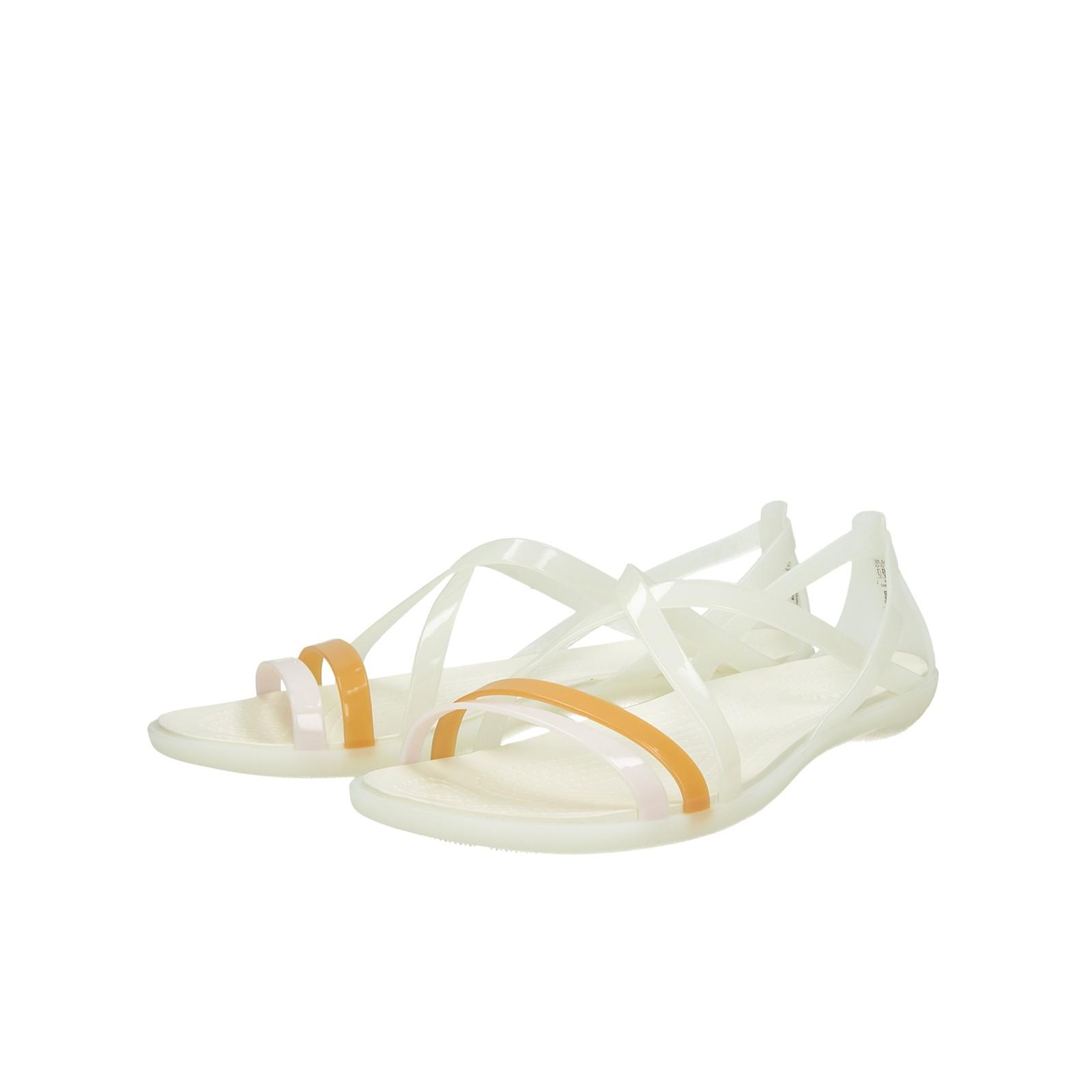 Crocs dámske pohodlné sandále - biele