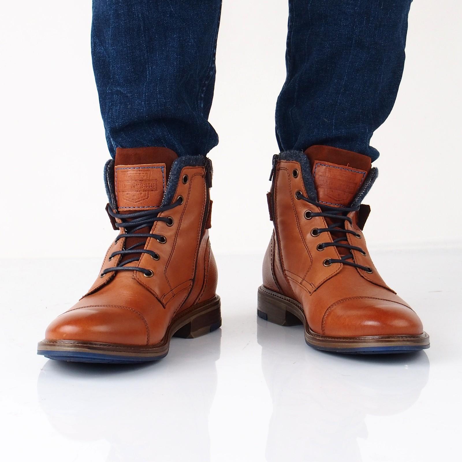 d2de74a578 Offroad pánska kožená členková obuv - hnedá ...