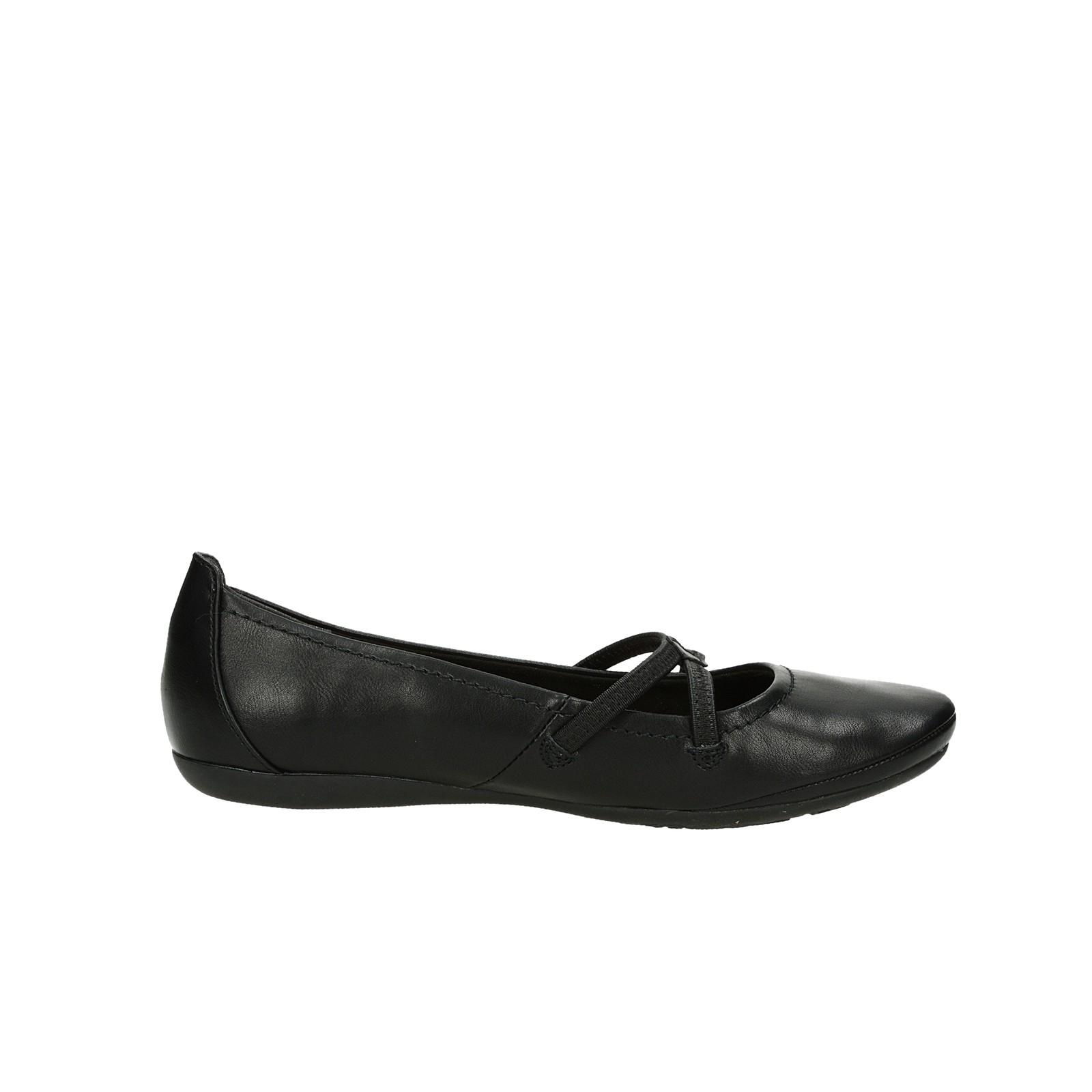Tamaris dámske pohodlné balerínky - čierne