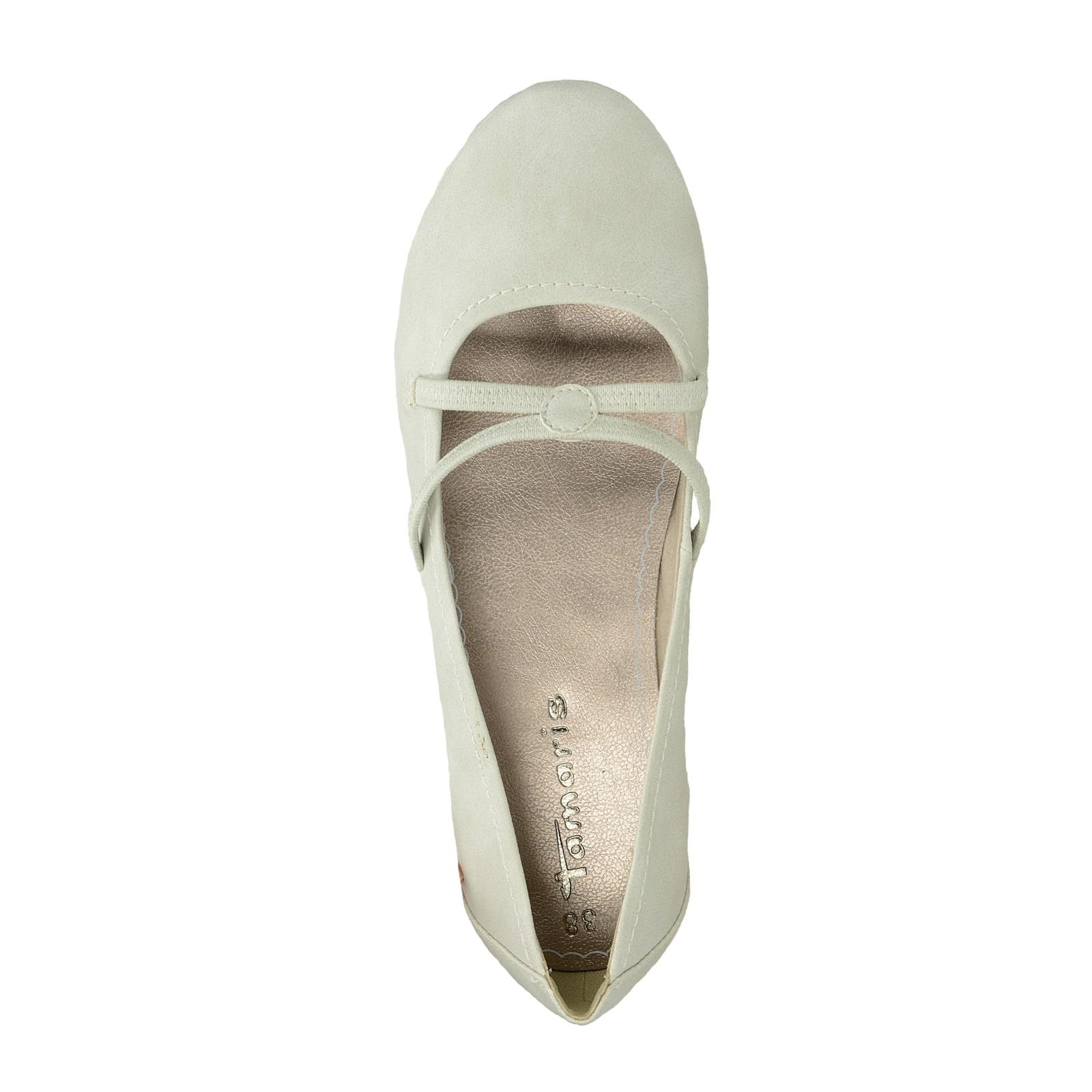 Tamaris dámske pohodlné balerínky - šedé