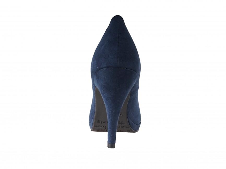 342b10bb2715 ... Tamaris dámske elegantné semišové lodičky - modré ...