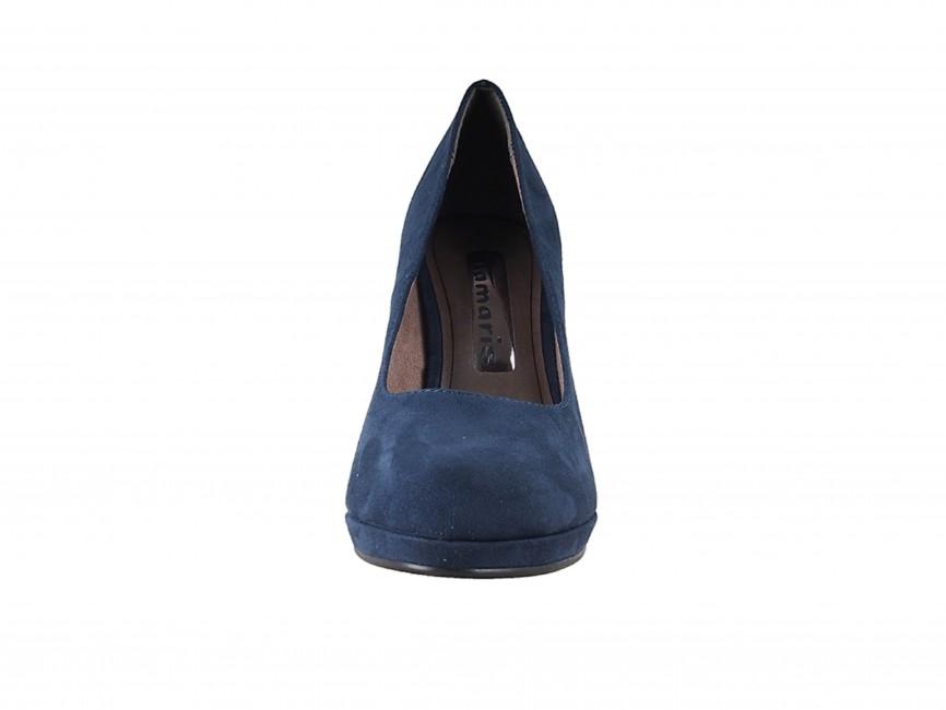 8a46ffc81c43 ... Tamaris dámske elegantné semišové lodičky - modré ...