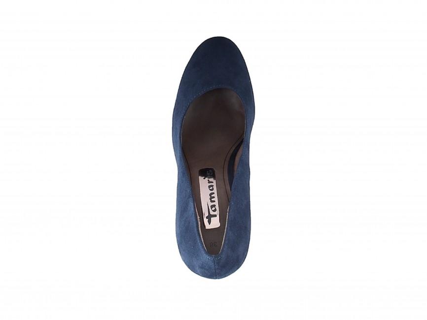 497df81b977d Tamaris dámske elegantné semišové lodičky - modré ...