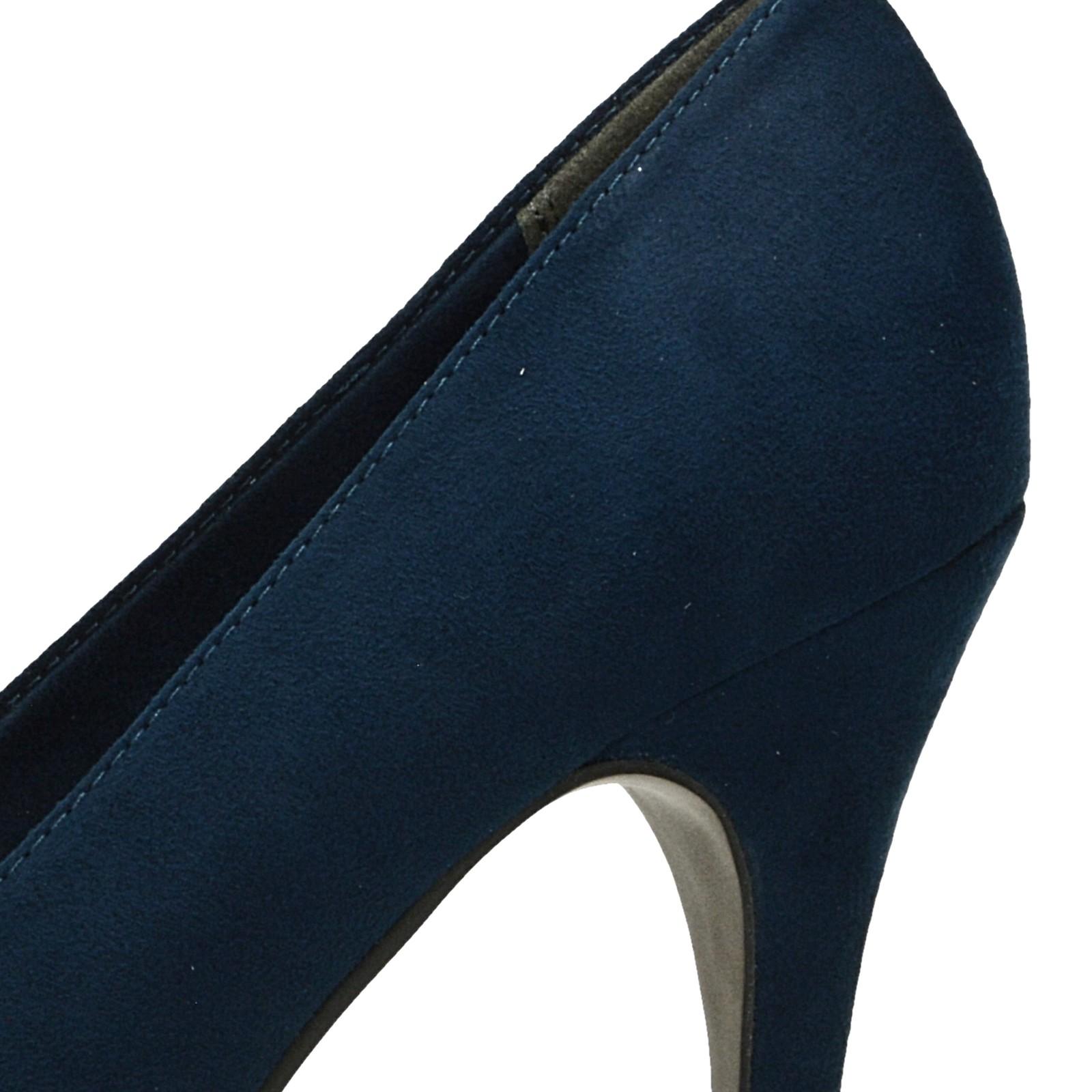 4c1b51c452 ... Tamaris dámske lodičky - modré ...