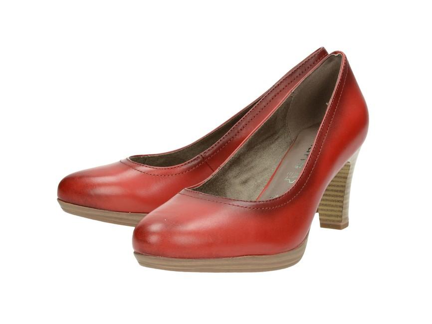 ... Tamaris dámske lodičky - červené ... 5335b3a53d