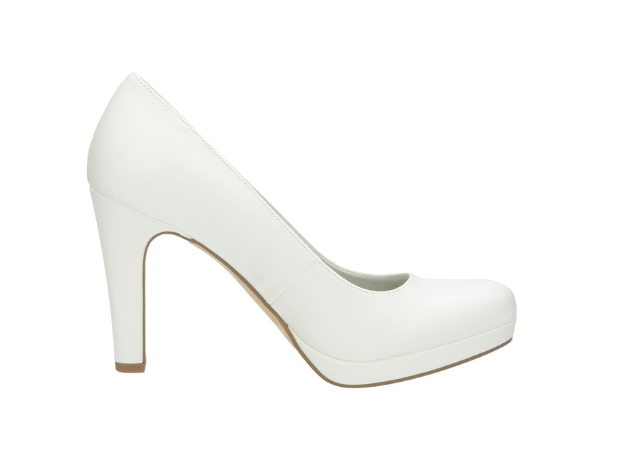 6463e7cea191 ... Tamaris dámske lodičky - biele ...