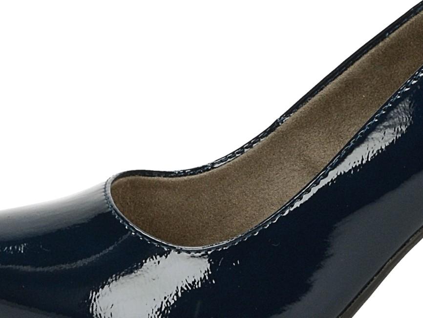 Tamaris dámske štýlové lesklé lodičky - modré