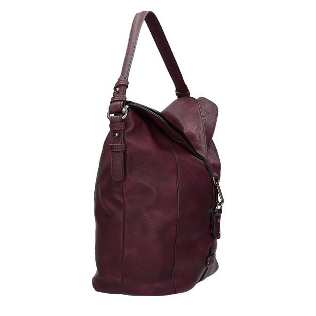 Tamaris dámska praktická štýlová kabelka - bordová