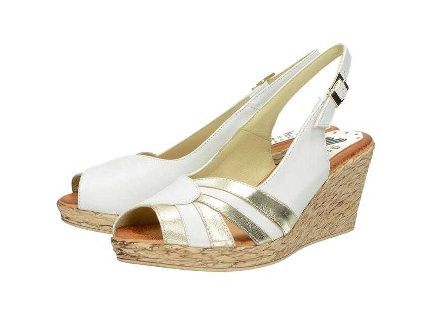 08e1832d5250 Marila dámske elegantné sandále na klinovej podražke - biele ...