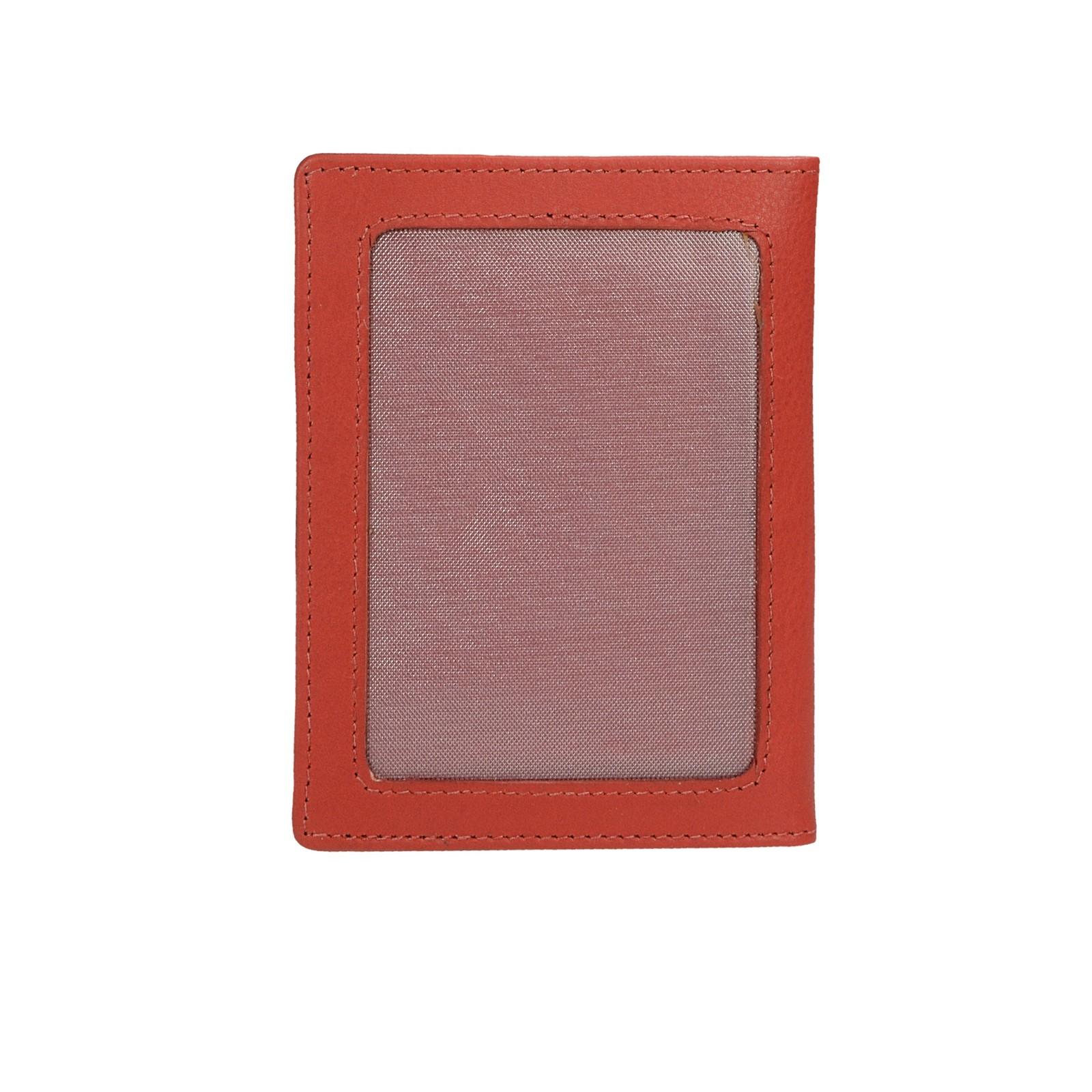 Mercucio dámska kožená dokladovka - červená