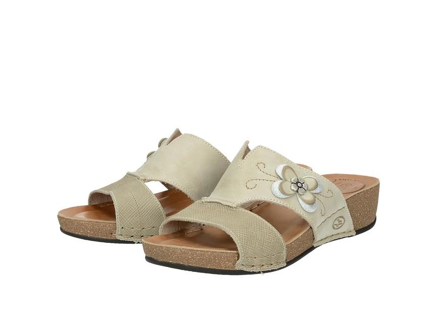 ee01574477cd Šľapky. Fly Flot dámske sandále s kvetovým motívom - béžové ...