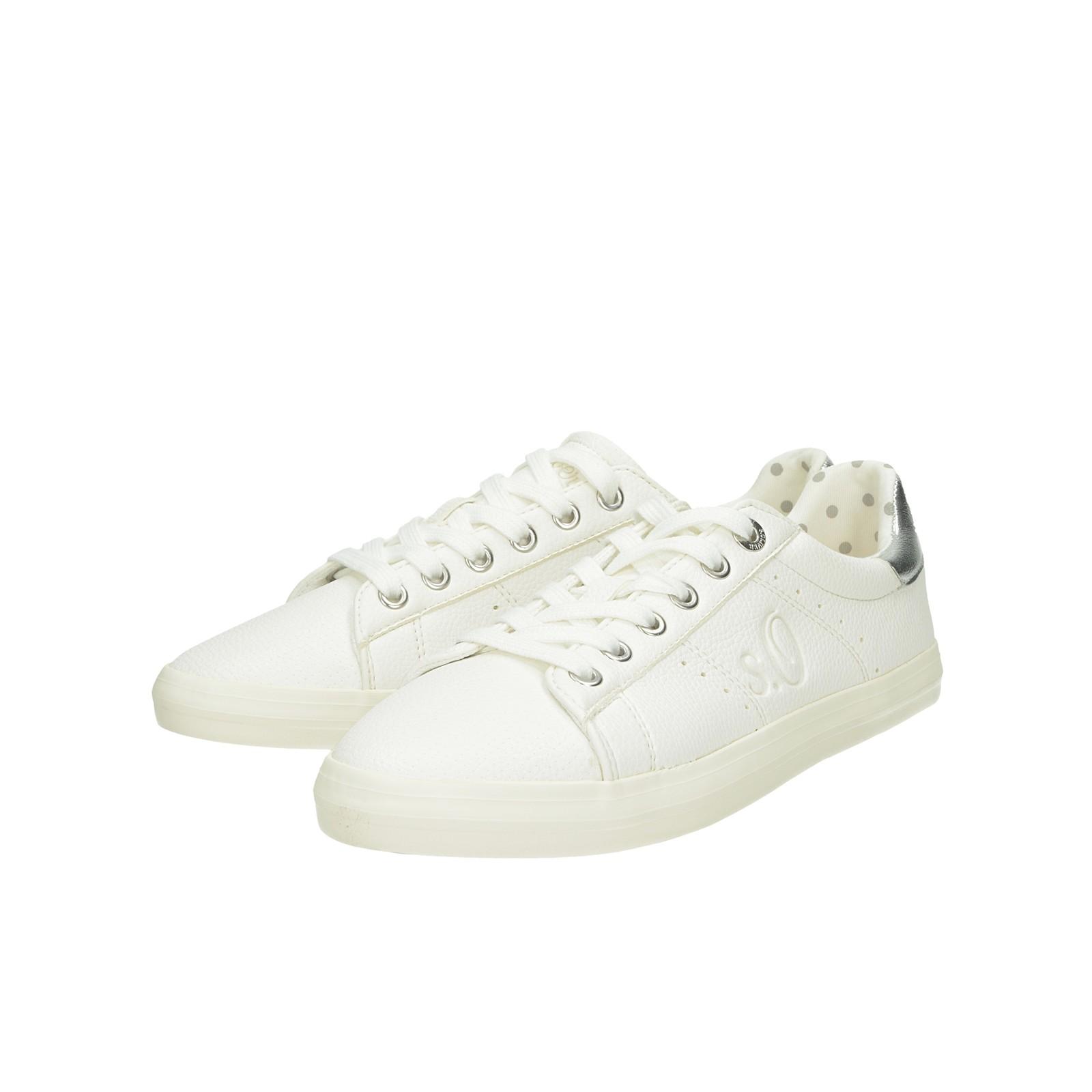 1a61b139262d6 S.Oliver dámske pohodlné tenisky - biele | 2363822-WHT www.robel.sk