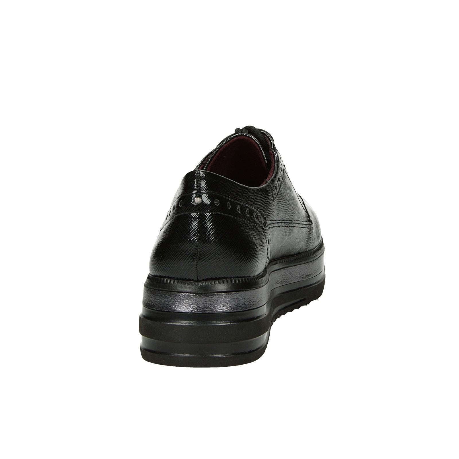 Tamaris dámske pohodlné poltopánky - čierne