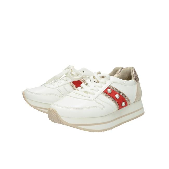 df8d4d1387598 Tamaris dámske štýlové tenisky - biele | 2376430-WHTcomb www.robel.sk