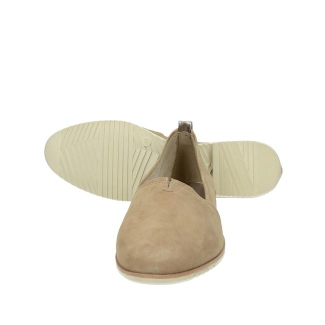 Tamaris dámske pohodlné balerínky na podpätku - hnedé