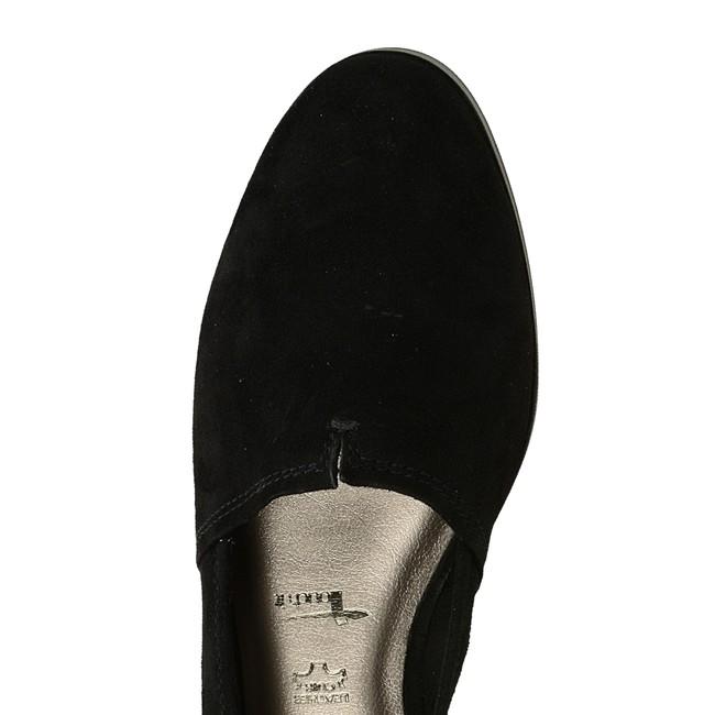 Tamaris dámske pohodlné balerínky na podpätku - čierne