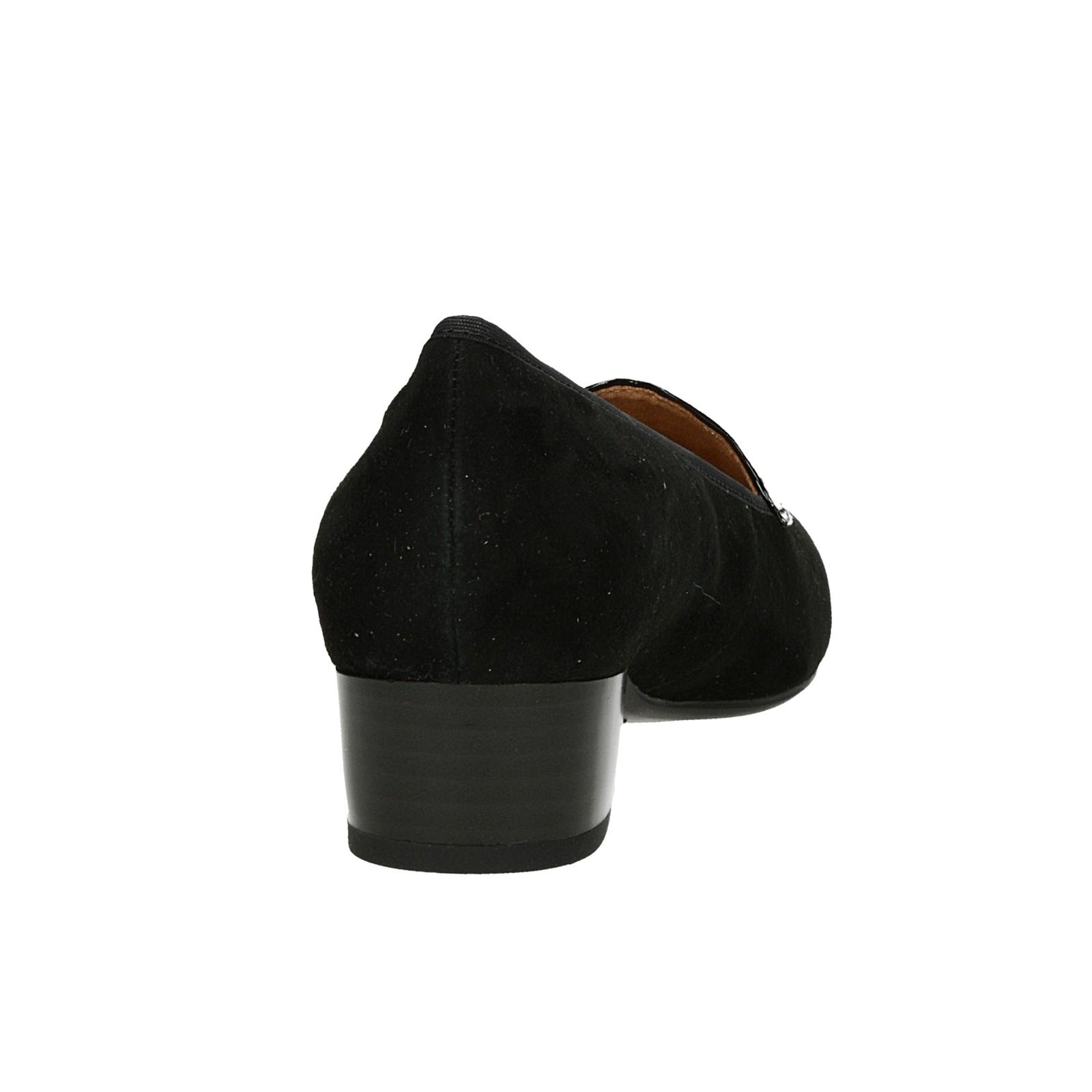d06124b0d Caprice dámske kožené lodičky na nízkom podpätku - čierne   2430221 ...