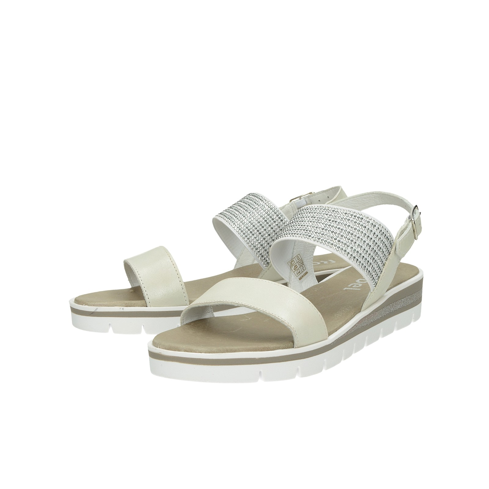 670e61285edb Robel dámske sandále s ozdobnými kamienkami - béžové ...