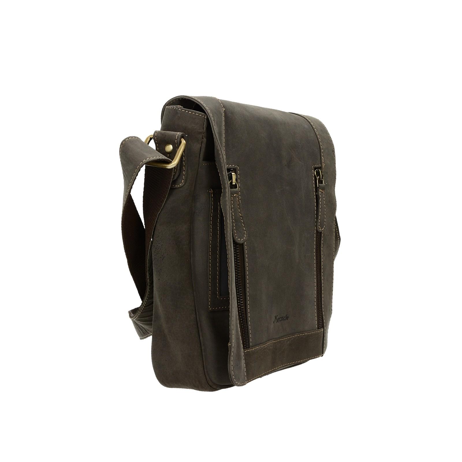 Mercucio pánska kožená praktická taška - hnedá