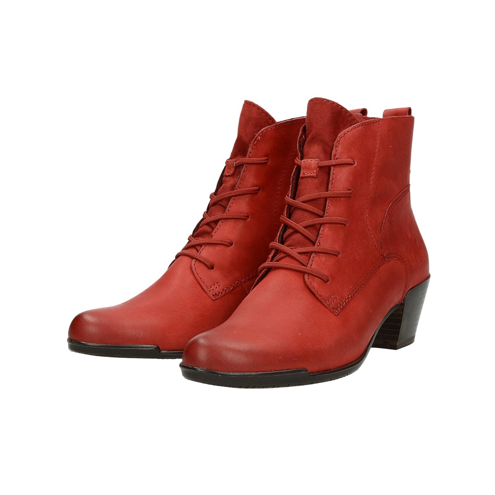 Tamaris dámske štýlové kotníky - červené