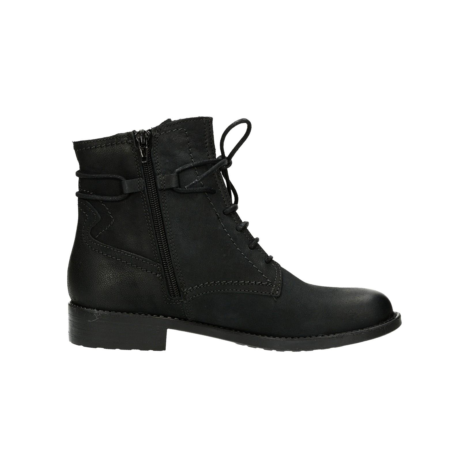 83d99ef6b09 Tamaris dámske nubukové kotníky - čierne ...