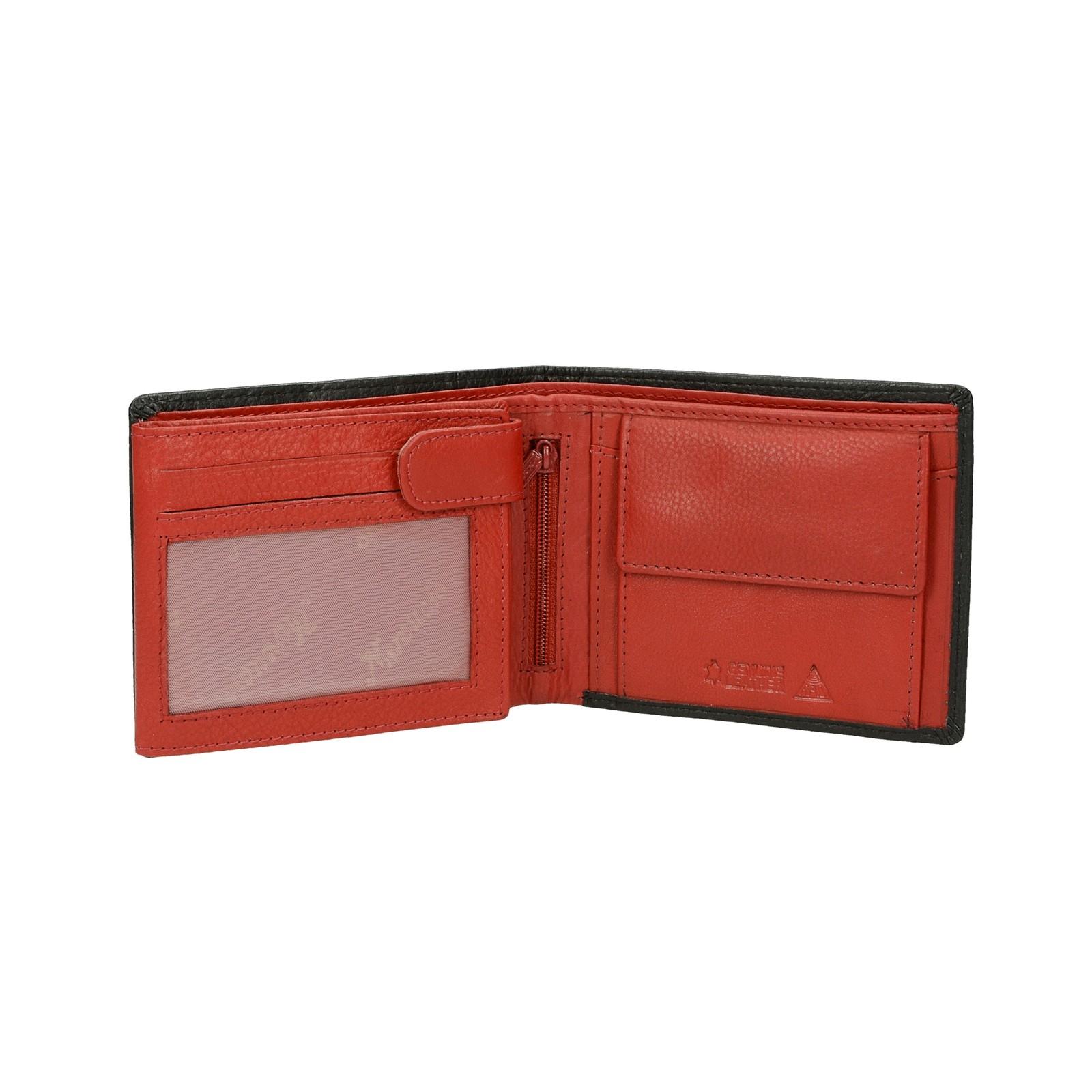 ... Mercucio pánska kožená peňaženka - čiernočervená ... e47ab031cb4