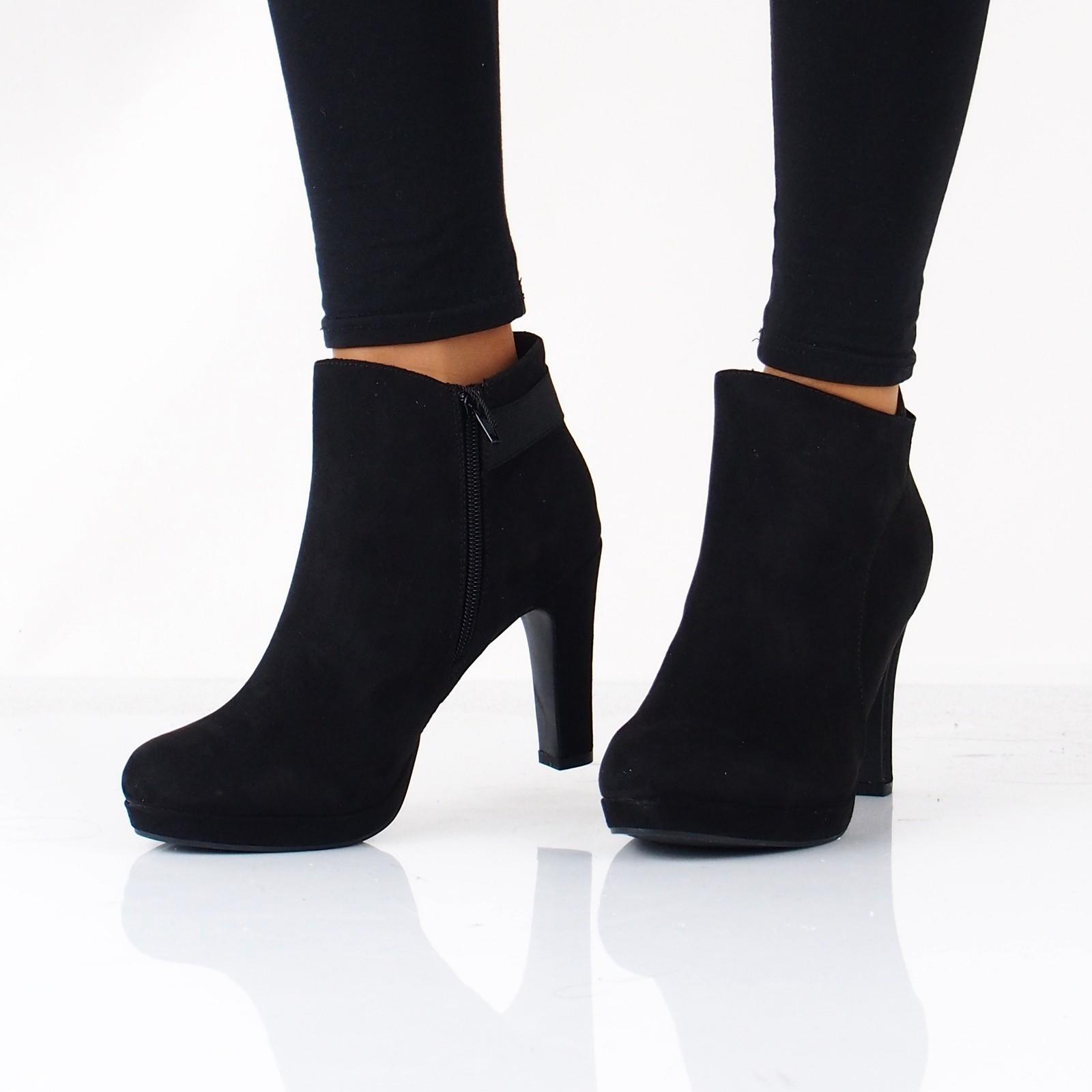 63308839952a Jane Klain dámske textilné kotníky na vysokom podpätku - čierne ...