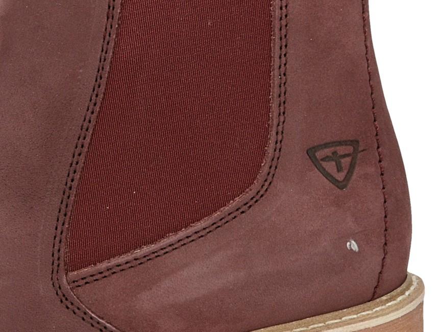 ad3f596f72d2 ... Tamaris dámske kožené pohodlné kotníky - bordové ...
