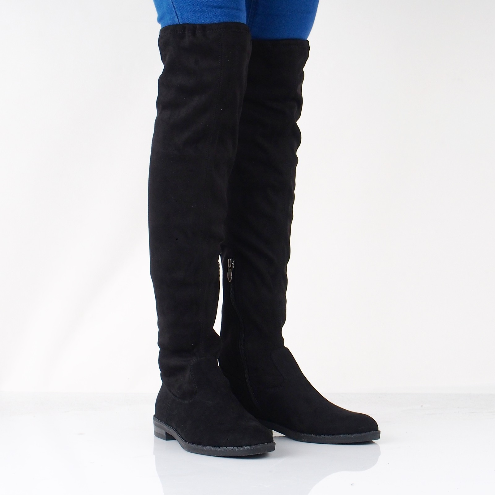 b821481ca4 Tamaris dámske textilné vysoké čižmy - čierne ...