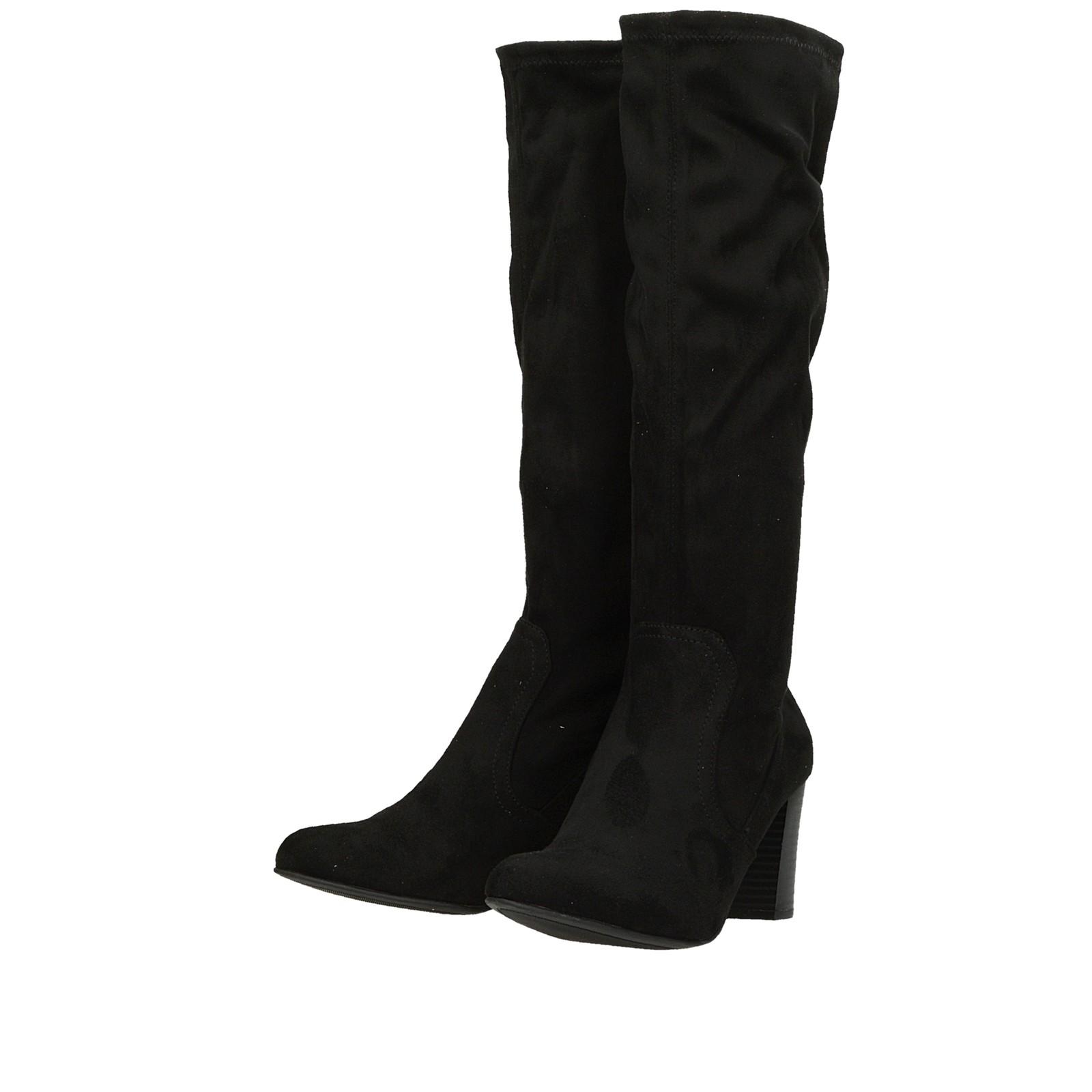 31f475c582 ... Caprice dámske textilné vysoké čižmy - čierne ...