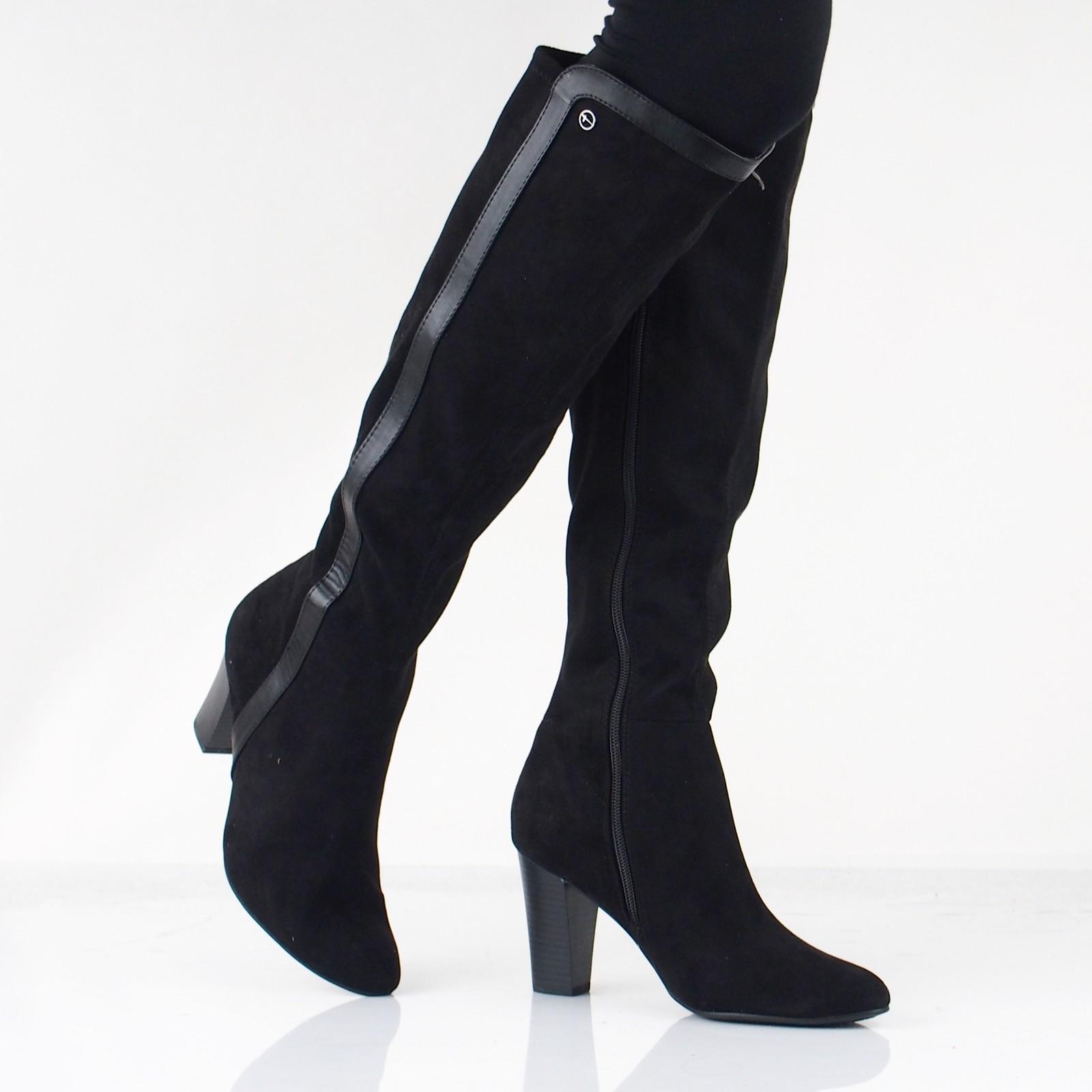 fc26176ed4ed0 Tamaris dámske vysoké štýlové čižmy - čierne | 2551421-BLK www.robel.sk