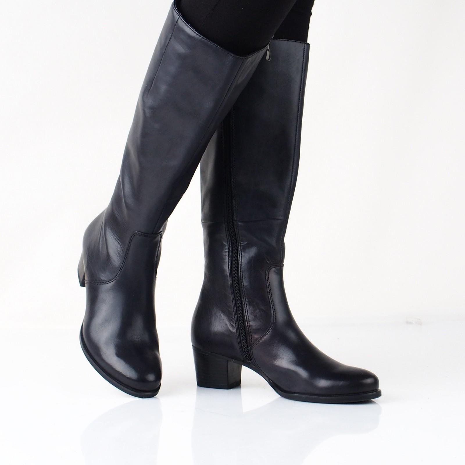 f93d0b1997 Caprice dámske kožené vysoké čižmy - čierne ...