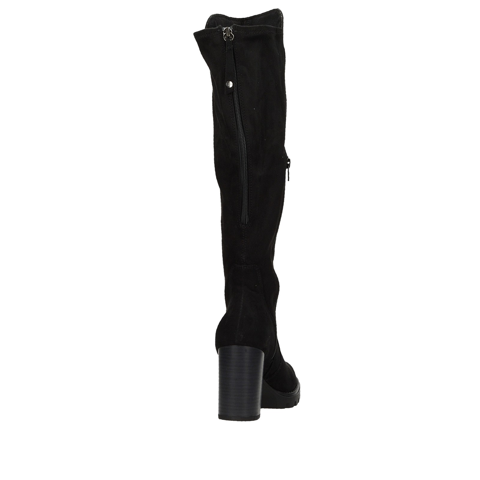 2925071f74 ... Tamaris dámske textilné vysoké čižmy - čierne ...