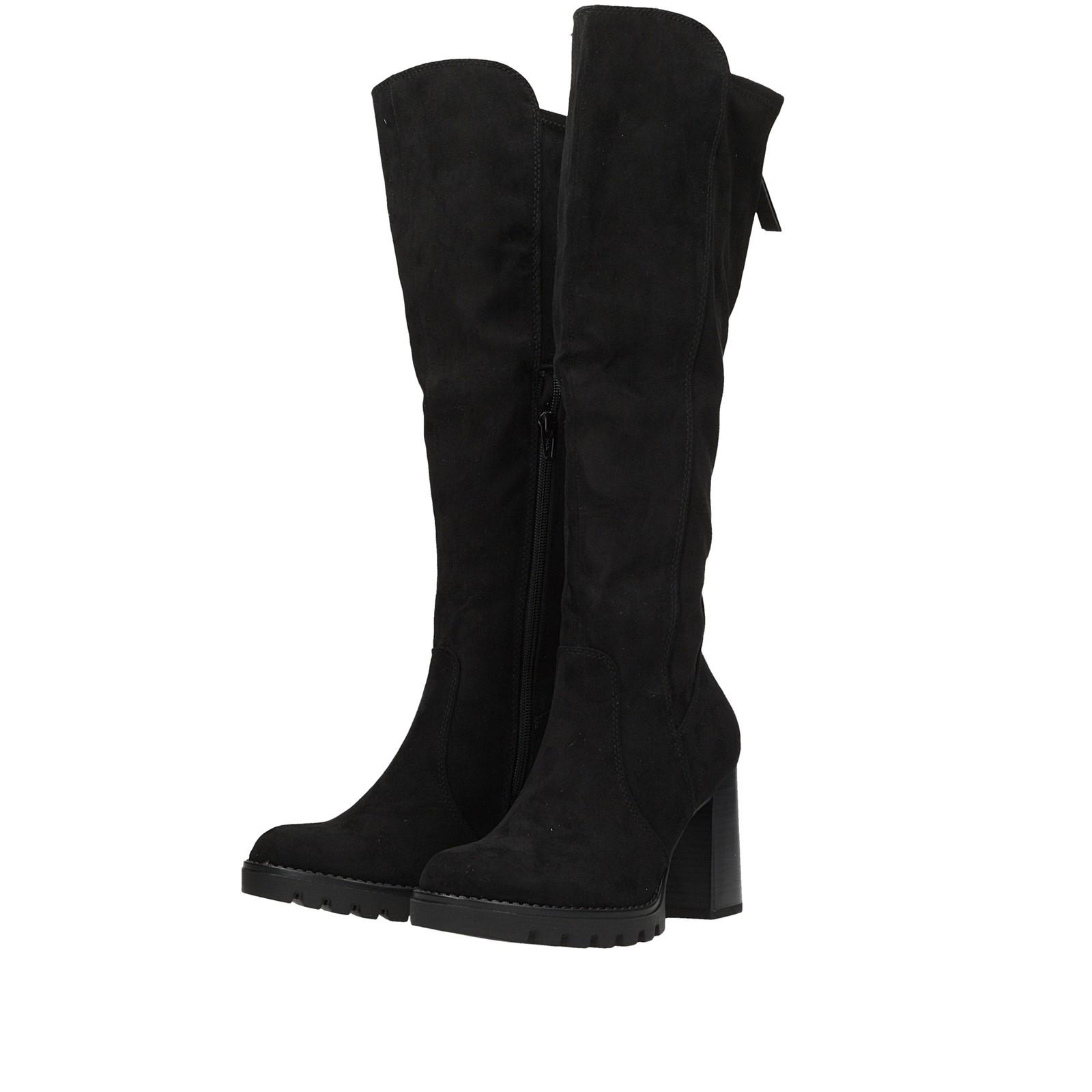 856f3cd18bc52 Tamaris dámske textilné vysoké čižmy - čierne | 2554021-BLK www.robel.sk