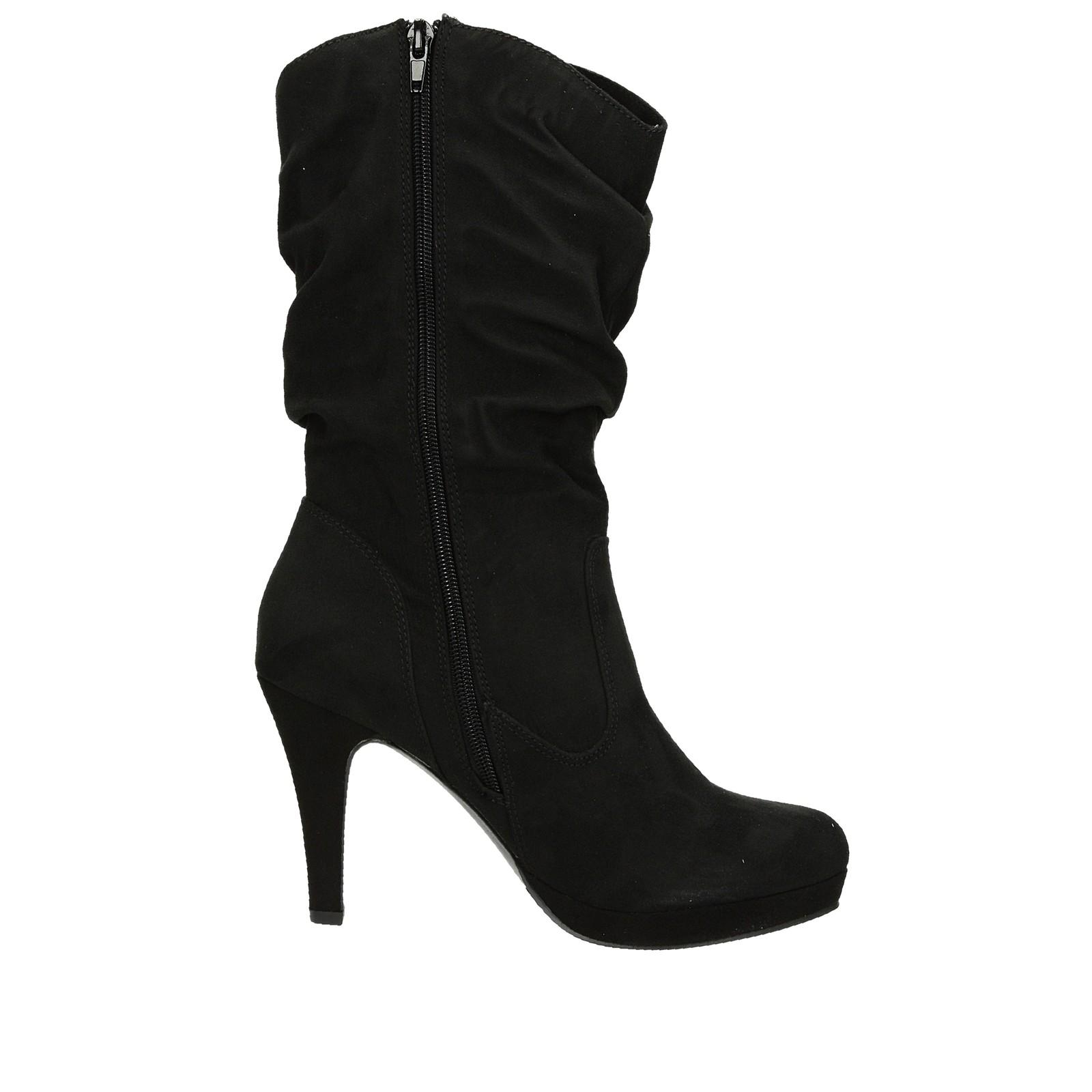 96fae12ecb76 ... Jane Klain dámske textilné čižmy na vysokom podpätku - čierne ...
