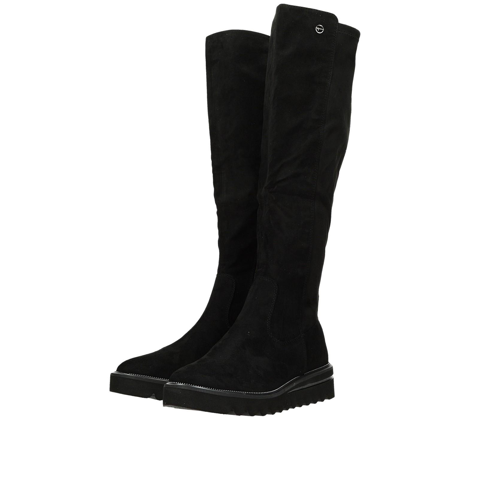 157ceb28cc27 ... Tamaris dámske textilné vysoké čižmy - čierne ...