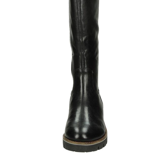 6adf818c9c Caprice dámske vysoké kožené čižmy - čierne ...