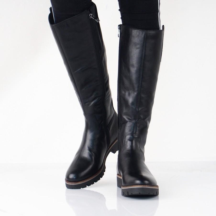 167f52ae60 Caprice dámske vysoké kožené čižmy - čierne ...